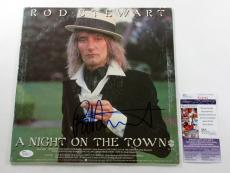 Rod Stewart Signed LP Record Album A Night On The Town w/ JSA AUTO