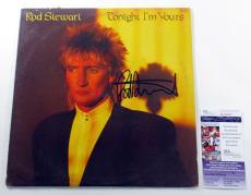 Rod Stewart Signed LP Record Album Tonight I'm Yours w/ JSA AUTO