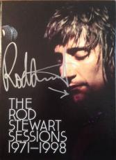 "ROD STEWART signed ""The Rod Stewart Sessions 1971-1998"" CD set-w/discs- JSA"