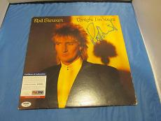 Rod Stewart Tonight I'm Yours Signed Album Cover PSA DNA COA Autograph Record