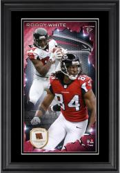 Roddy White Atlanta Falcons 10'' x 18'' Vertical Framed Photograph with Piece of Game-Used Football - Limited Edition of 250