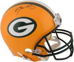 Green Bay Packers Aaron Rodgers Autographed Authentic Riddell Pro Line Helmet - Mounted Memories