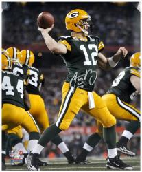 Green Bay Packers Aaron Rodgers Super Bowl XLV 16'' x 20'' Autographed Photo with Insc ''SB XLV MVP'' - Mounted Memories