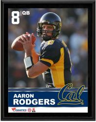 Aaron Rodgers California Golden Bears Sublimated 10.5'' x 13'' Plaque - Mounted Memories