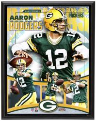 Green Bay Packers Aaron Rodgers 10.5'' x 13'' Plaque - Mounted Memories