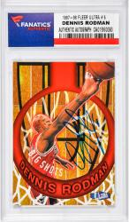 Dennis Rodman Chicago Bulls Autographed 1997-98 Fleer Ultra #5 Card