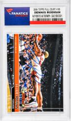 Dennis Rodman Chicago Bulls Autographed 2006 Topps Full Court #83 Card