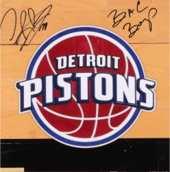 Dennis Rodman Detroit Pistons Autographed Floor Piece With Bad Boys Inscription
