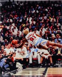 "NBA Chicago Bullls Dennis Rodman Autographed 16"" x 20"" Photo"