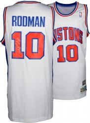 "Dennis Rodman Autographed Pistons Jersey with ""HOF 2011"" Inscription"