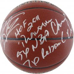 Dennis Rodman Autographed Indoor Outdoor Basketball LE91 #1 with Multiple Inscriptions