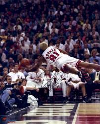 Dennis Rodman Chicago Bulls Autographed 16'' x 20'' Diving Photograph 2