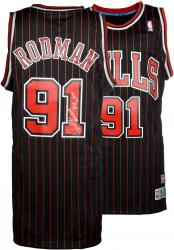 "Dennis Rodman Autographed Bulls Jersey with ""The Worm"" Inscriptions"