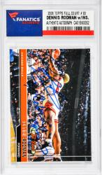 Dennis Rodman Chicago Bulls Autographed 2006 Topps FC #83 Card with 7 X Rebounding Champ Inscription
