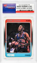 "RODMAN, DENNIS AUTO""BAD BOYS""(1988-89 FLEER RC # 43) - Mounted Memories"