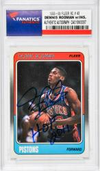 "RODMAN, DENNIS AUTO""HOF 2011""(1988-89 FLEER RC # 43) - Mounted Memories"