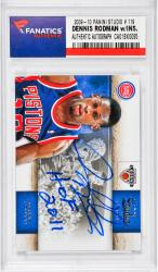 Dennis Rodman Chicago Bulls Autographed 2009-10 Panini Studio #119 Card with HOF 2011 Inscription