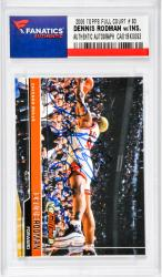 Dennis Rodman Chicago Bulls Autographed 2006 Topps Full Court #83 Card with The Worm Inscription