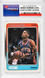 "RODMAN, DENNIS AUTO""THE WORM""(1988-89 FLEER RC # 43) - Mounted Memories"