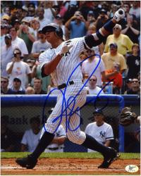 "Alex Rodriguez New York Yankees Autographed 8"" x 10"" Swing Photograph"