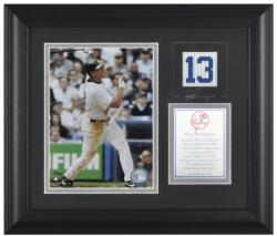 """Alex Rodriguez New York Yankees Framed 6"""" x 8"""" Photograph with Facsimile Signature & Plate"""