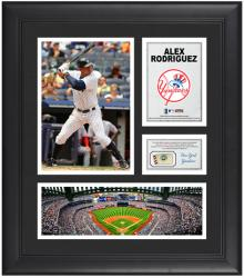 "Alex Rodriguez New York Yankees Framed 15"" x 17"" Collage with Game-Used Baseball"
