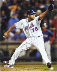 "Francisco Rodriguez New York Mets Autographed 16"" x 20"" Photograph - Mounted Memories"