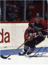 Jeremy Roenick Chicago Blackhawks Autographed 8'' x 10'' Action Photograph - Mounted Memories
