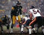 Ben Roethlisberger and Brian Urlacher Dual Autographed 16'' x 20'' Snow Photograph - Mounted Memories