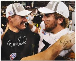 Pittsburgh Steelers Roethlisberger & Cowher Signed 16'' x 20'' Photo - Mounted Memories