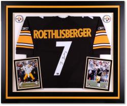 Fanatics Authentic Autographed Ben Roethlisberger Pittsburgh Steelers Deluxe Framed Reebok Black Jersey