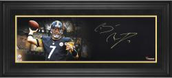 Ben Roethlisberger Pittsburgh Steelers Framed Autographed 10'' x 30'' Film Strip Photograph - Mounted Memories