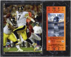 Pittsburgh Steelers Super Bowl XLIII Ben Roethlisberger Plaque with Replica Ticket - Mounted Memories