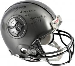 Ben Roethlisberger Pittsburgh Steelers Autographed Pewter Helmet with Multiple Inscriptions