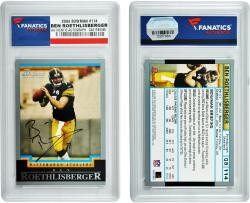 Ben Roethlisberger Pittsburgh Steelers Autographed 2004 Bowman #114 Card - Mounted Memories