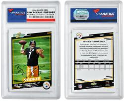 Ben Roethlisberger Pittsburgh Steelers Autographed 2004 Score #381 Card - Mounted Memories