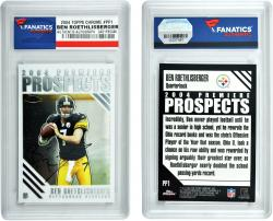 Ben Roethlisberger Pittsburgh Steelers Autographed 2004 Topps Chrome #166 Card - Mounted Memories