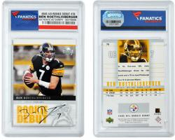 Ben Roethlisberger Pittsburgh Steelers Autographed 2005 Upper Deck Debut #76 Card - Mounted Memories