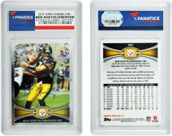 Ben Roethlisberger Pittsburgh Steelers Autographed 2012 Topps Chrome #182 Card - Mounted Memories