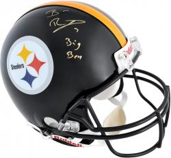 Ben Roethlisberger Pittsburgh Steelers Autographed Riddell Pro-Line Authentic Helmet with Big Ben Inscription - Mounted Memories