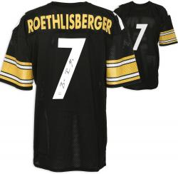 Ben Roethlisberger Pittsburgh Steelers Autographed Black Jersey - Mounted Memories