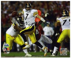 Pittsburgh Steelers Ben Roethlisberger Super Bowl XLIII Signed 8'' x 10'' Photo - Mounted Memories