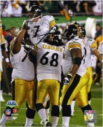 Pittsburgh Steelers Ben Roethlisberger Super Bowl XLIII Signed 8'' x 10'' Celebration Photo - Mounted Memories