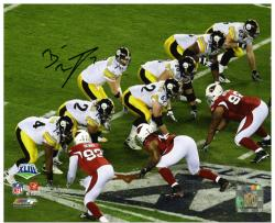 Pittsburgh Steelers Ben Roethlisberger Super Bowl XLIII Signed 8'' x 10'' Under Center Photo - Mounted Memories