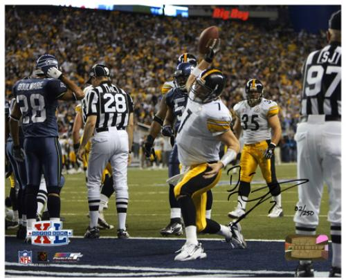 "Ben Roethlisberger Pittsburgh Steelers Super Bowl XL Autographed 8"" x 10"" Spike Shot Photograph-Limited Edition of 250"