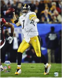 Ben Roethlisberger Pittsburgh Steelers Super Bowl XLIII Autographed 16'' x 20'' Photograph - Mounted Memories