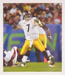 Ben Roethlisberger Pittsburgh Steelers Autographed Canvas with Multiple Inscriptions