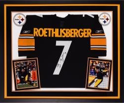 Ben Roethlisberger Autographed Steelers Jersey - Deluxe Framed