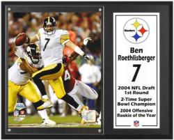"Ben Roethlisberger Pittsburgh Steelers Sublimated 12"" x 15"" Player Plaque - Mounted Memories"