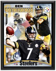 Pittsburgh Steelers Ben Roethlisberger 10.5'' x 13'' Plaque - Mounted Memories